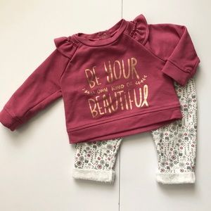 Chick Pea Baby Girl 2 Piece Outfit